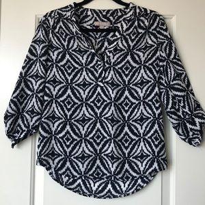Unique patterned Banana Republic blouse.